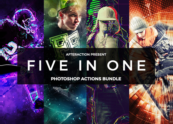 Big Shatter Photoshop Actions Bundle