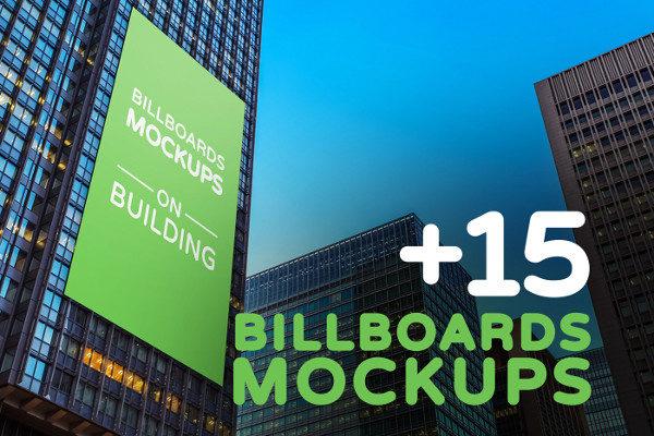 Billboards Mockup on Building