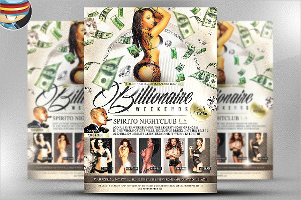 Billionaire Weekends Party Flyer Template