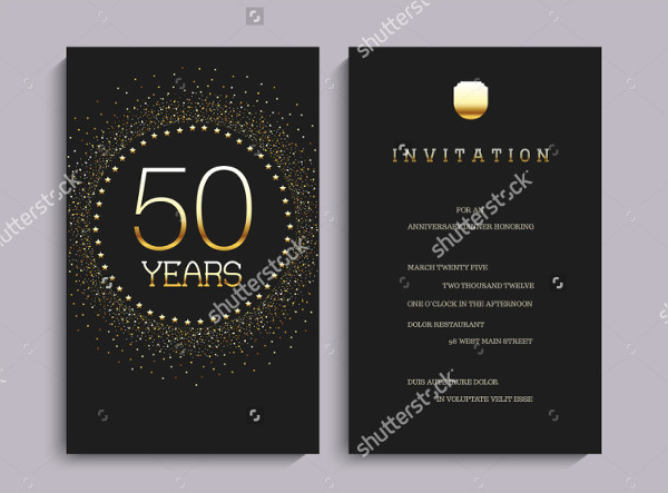 Anniversary Party Invitation Template