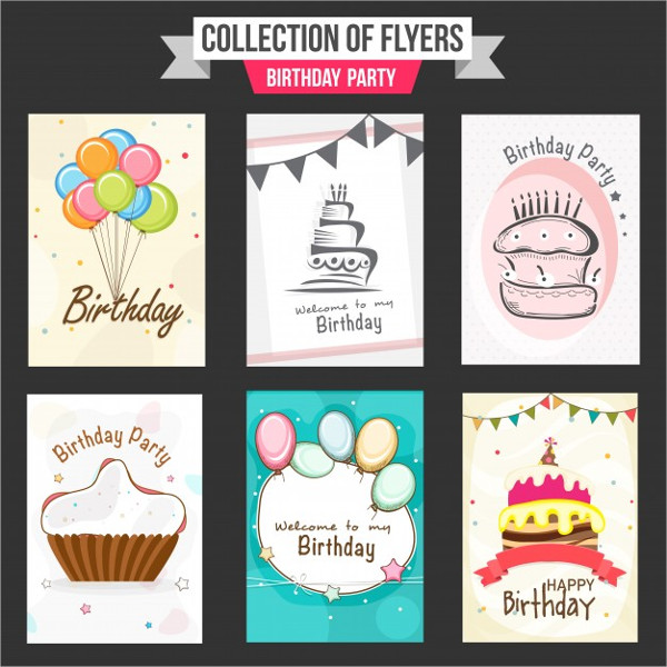 Collection Birthday Party Flyers for Kids