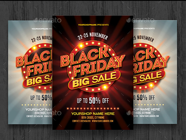 Black Friday Sale Advertising Flyer Template