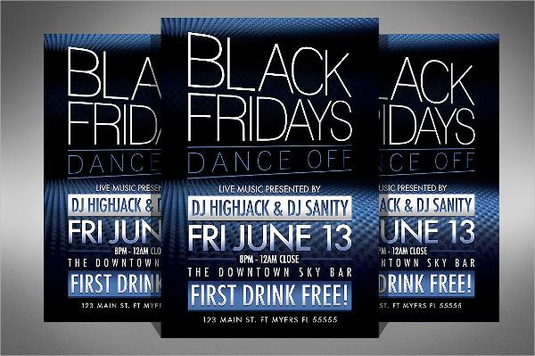 Black Friday Club Dance Flyer Template