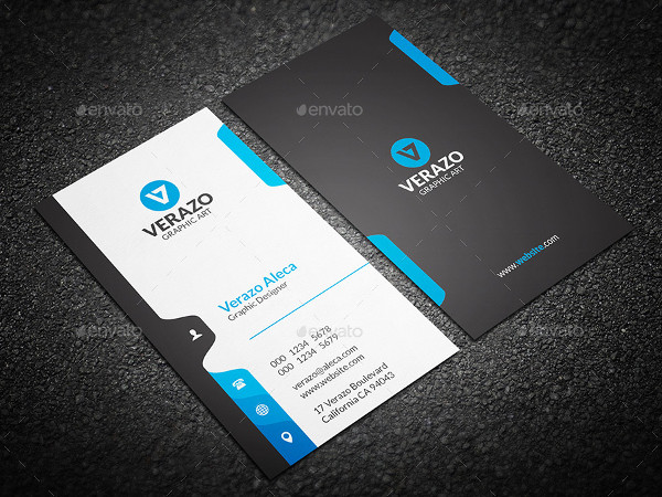 Stylish Vertical Business Cards