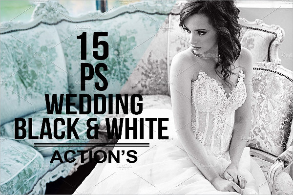 Black & White Wedding Photoshop Action