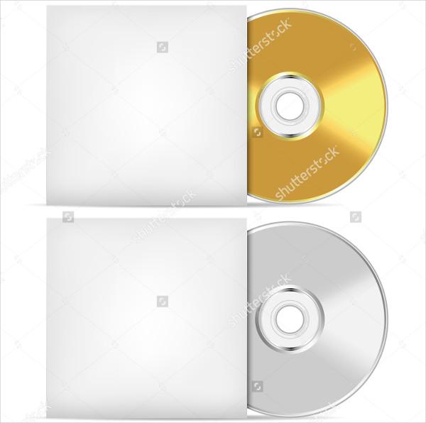 Blank CD Presentation Mockup