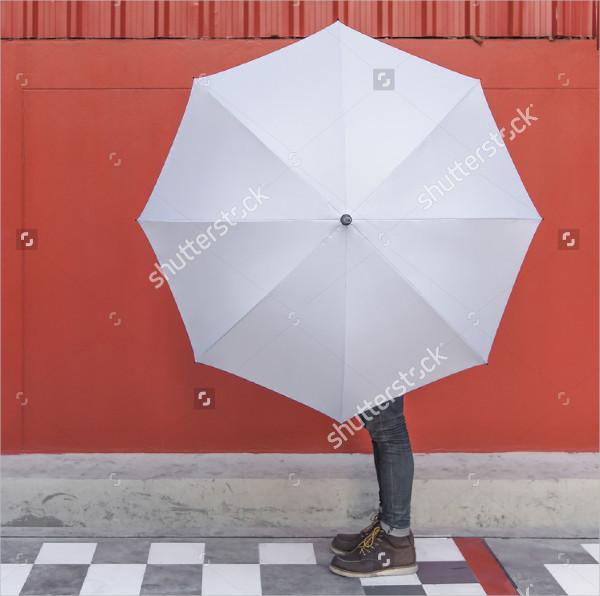 Blank Mock-Up of Umbrella