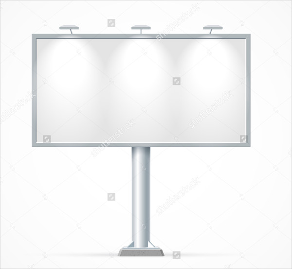 Blank billboard Mock-Up for Advertisement