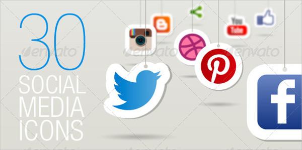 30 Social Media Website Icons