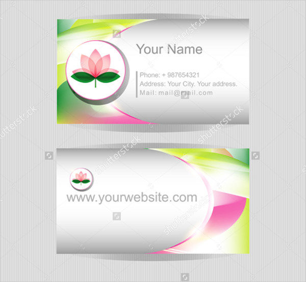 Flower Blossom Vector Business Card