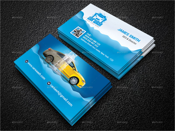 Perfect Car Wash Business Card Template