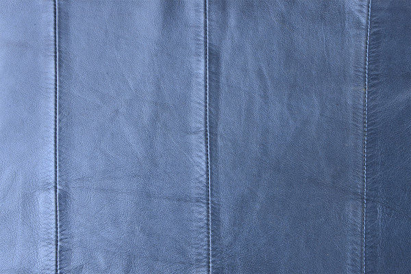 Blue Leather Material Texture Background