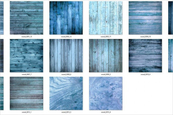 Blue Wood Texture Set