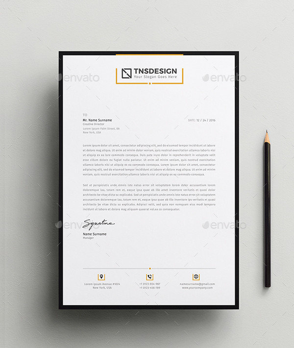 Branding Letterhead Template