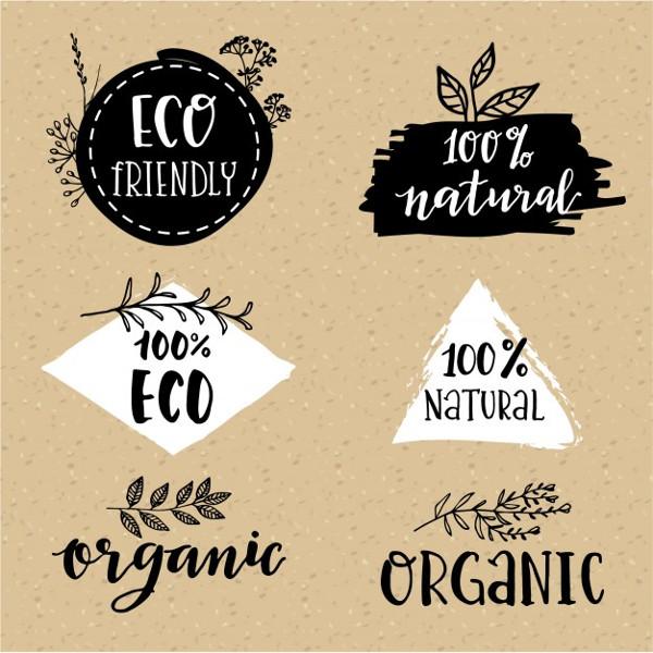 Free Download Organic Logos Set