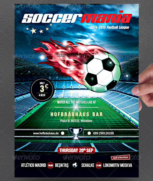 Soccer Mania Poster Template