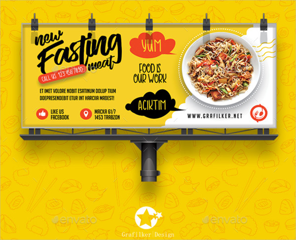 New Restaurant Billboard Templates