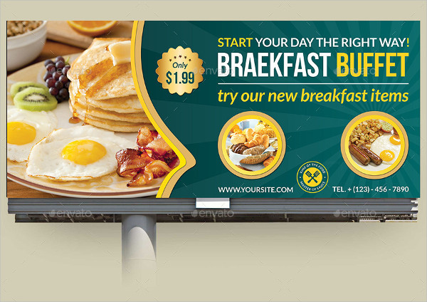 Breakfast Restaurant Billboard