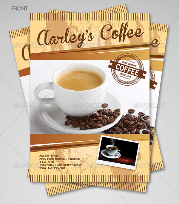 Coffee Menu Flyer Templates