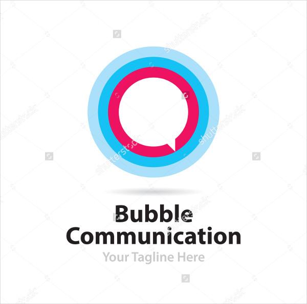 Flat Bubble Communication Logo Template