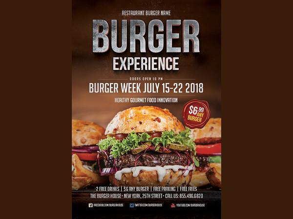 Unique Burger Flyer Template