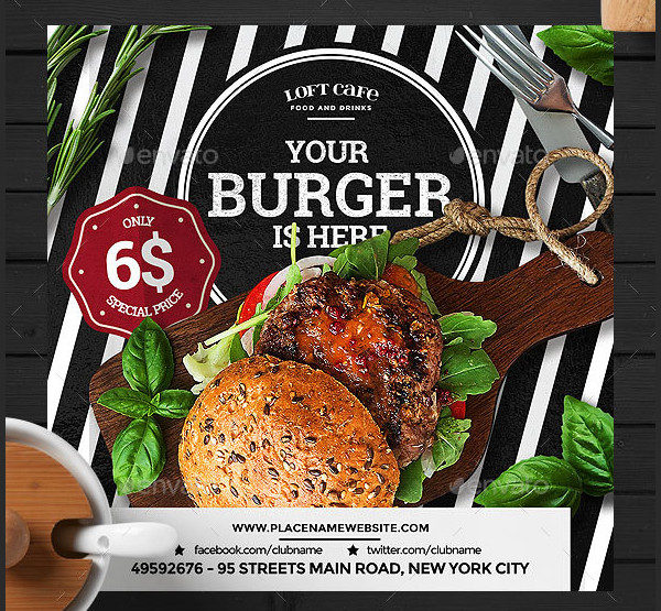 Burger/Fast Food Flyer Template
