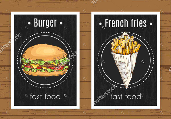 Burger & French Fries Flyer Template