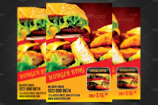 Burger King Flyer Template