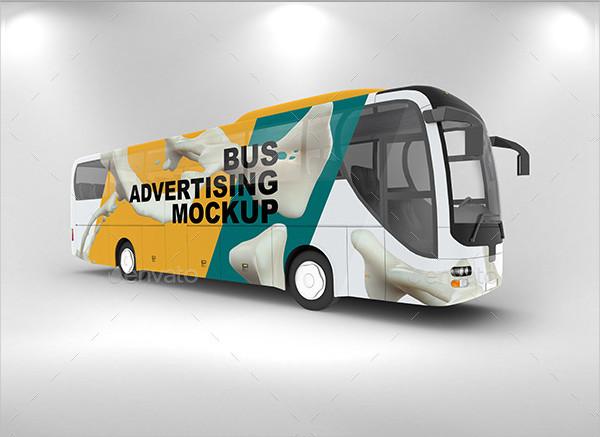 PSD Bus Advertising Mockup