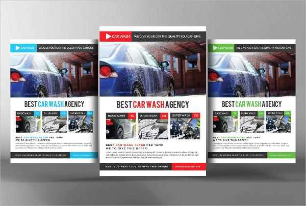 Best Car Wash Agency Flyer Template