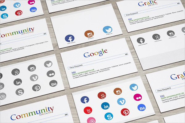 Business Card with Search Bar