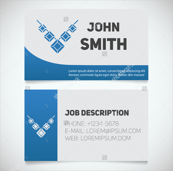 Jewelry Store Business Card Template