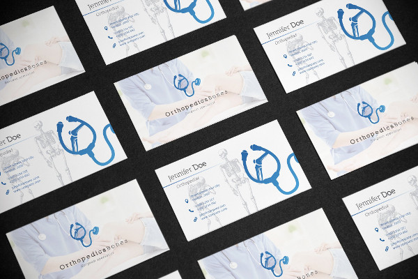 Business Card Template for Medical Orthopedist