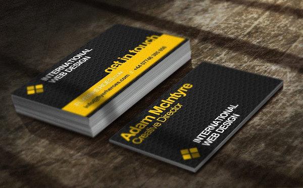 Business Card Template for Web Designer