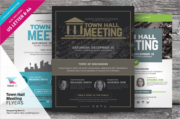 Business Event Meeting Flyer Templates