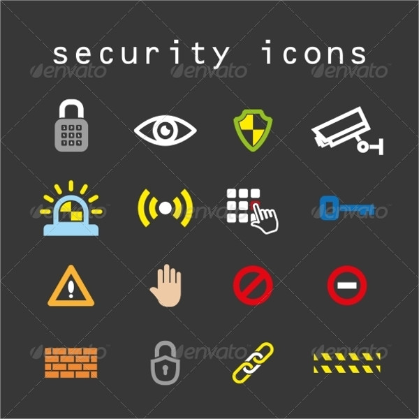 Security Flat Color Icons Vector Set