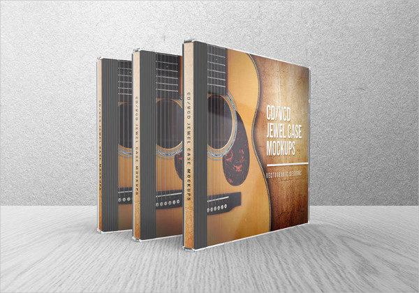 CD VCD Jewel Case Mockups