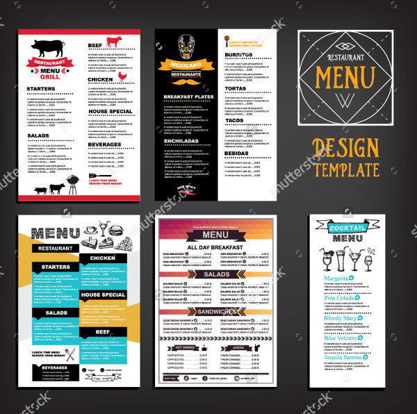 Cafe & Restaurant Menu Flyers Design