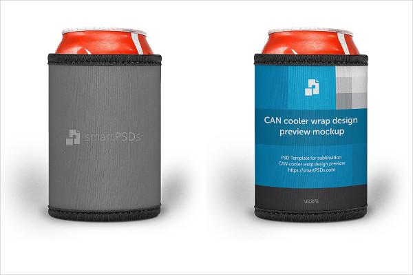 Can Cooler Wrap Design Mockup