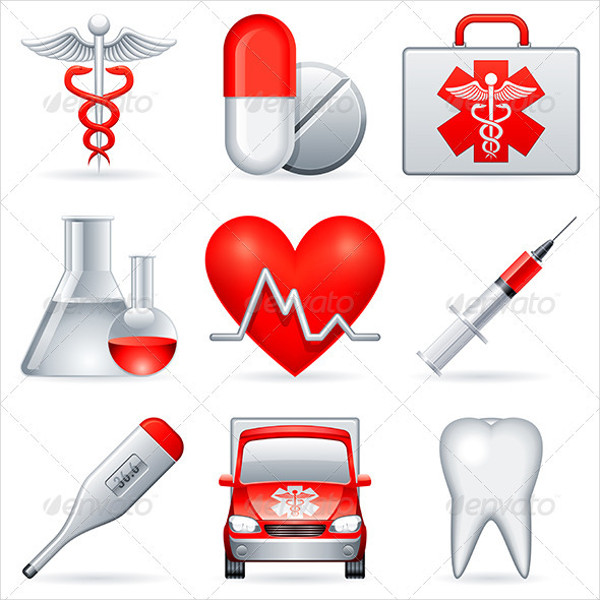 Fully Editable Icons of Medical Clinic