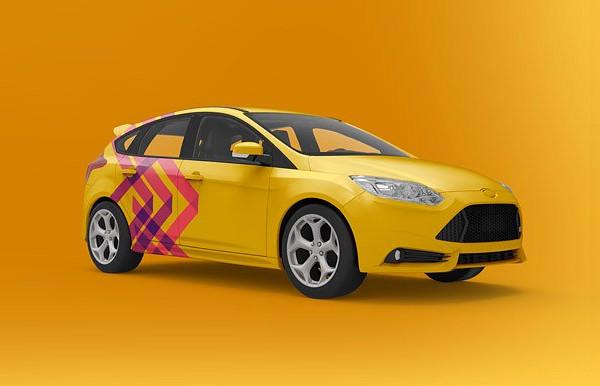 Car Designed Mock-Up