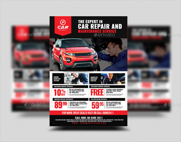 Car Repair and Maintenance Flyer Design