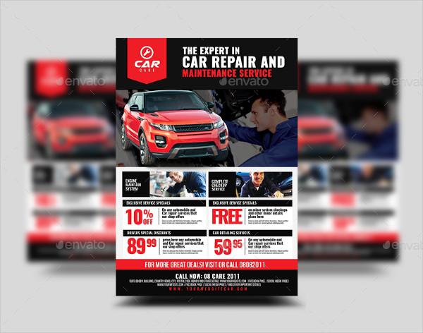 Car Repair and Maintenance Flyer Design