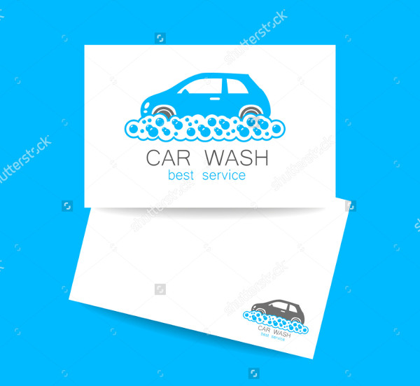 Car Wash Business Card Vector Illustration