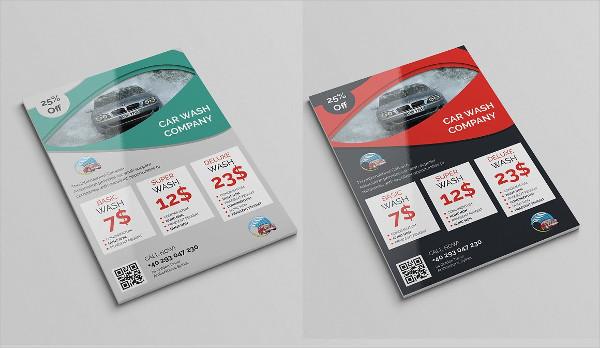 Car Wash Company Flyer