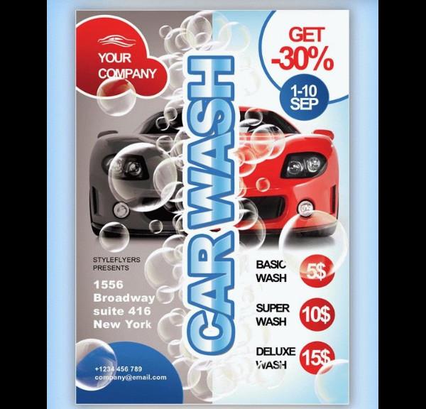 Car Wash Free PSD Flyer
