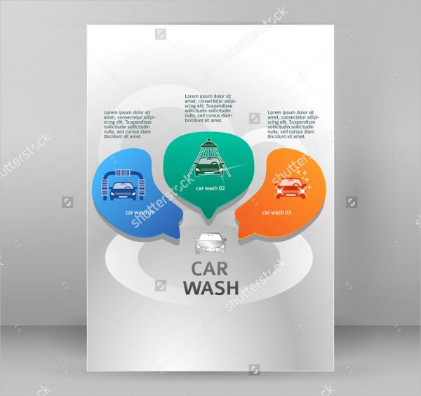 Car Wash Modern Flyer