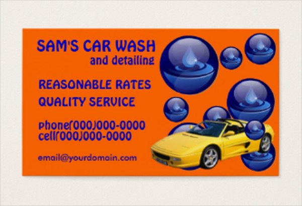 Clean Car Wash Service Business Cards