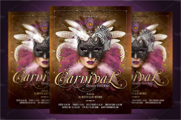 Carnival Mask Party Flyer Template