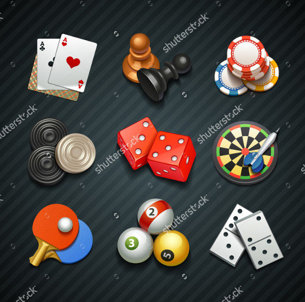 Casino Games Icons